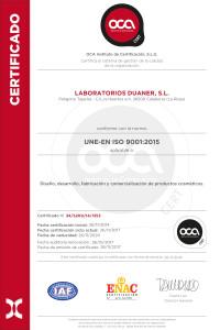Certificado OCA